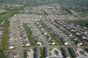 Aerial view of a subdivision near Man o' War Boulevard in Lexington-File photo