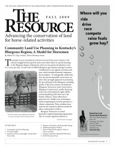 Equestrian Land Conservation Resource Fall Newsletter, Cover Page